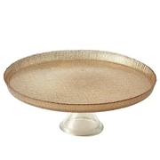 "Elegance 13"" Cotton Glass Dining Cake Stand"