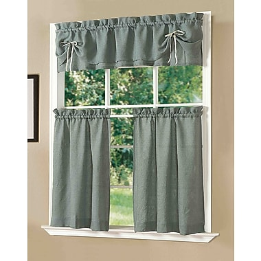 Dainty Home Kitchen Lucia Curtain Set (Set of 3); Blue