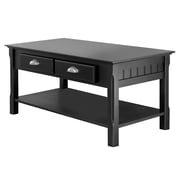 Winsome Trading Timber Wood Coffee Table, Black, Each (20238WTI)