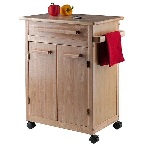 wooden storage work island kinbor drawer with on kitchen trolley ip drawers wheels cart