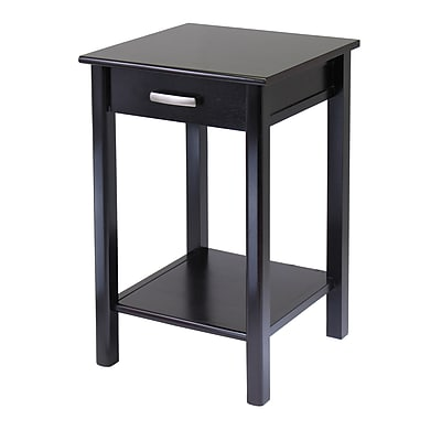"Winsome Liso Composite Wood End Table/Printer Table, Dark Espresso, 31.1""H x 20 1/2""W x 20 1/2""D"