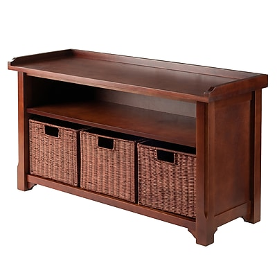 Winsome Storage Bench With Shelf and 3