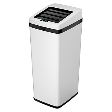 iTouchless Automatic White Steel Touchless Trash Can® SX; 14 gal.