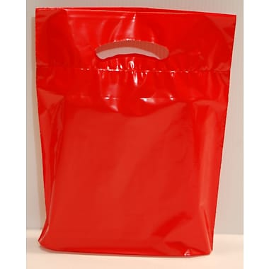 Marlo Packaging 9 x 11.5 x 2 Red D/C Bag, Biodegradable, 500/Pack
