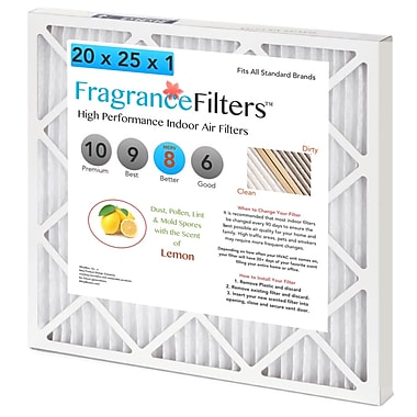 WhatBox FragranceFilters™ Scented Air Filters, 12 x 1 x 24, Lemon, 4/Pack (CI-4BF1-YJYS)
