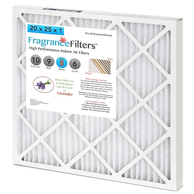 WhatBox FragranceFilters™ Scented Air Filters, 12 x 1 x 20, Lavender, 4/Pack (J9-IFT6-MEX4)
