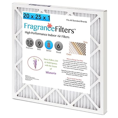 WhatBox FragranceFilters™ Scented Air Filters, 20 x 1 x 25, Wisteria, 4/Pack (J2-WNG3-7JXL)