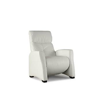 Losbu Lynk White Manual Recliner Chair (LYNRC-ELEWHI)