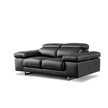 Losbu Nina Black 2 Seater 2-Seat Sofa (NIN2-ELEBLA)