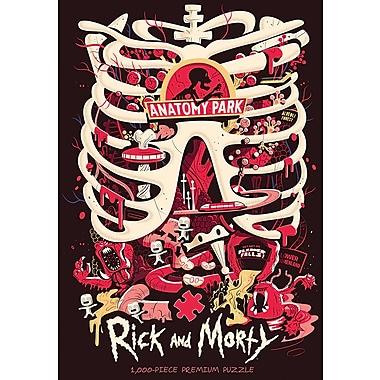 Casse tête de luxe à motif Rick and Morty Anatomy Park, 1000 morceaux (MONPZ085523)
