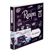 "Avery® My Recipe Binder, 1"" Slant Rings, 220-Sheet Capacity, Chalkboard (19801)"