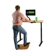 Uncaged Ergonomics Base Active Standing Balance and Stability Board with Bamboo Platform, Silver (BASE)