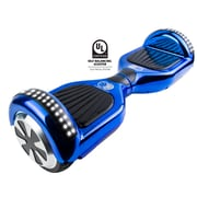 Gyrocopters PRO 2.0 Hoverboard with Bluetooth Speaker, APP, LED Lights, No Fall Technology and UL2272 Certified, Chrome Blue