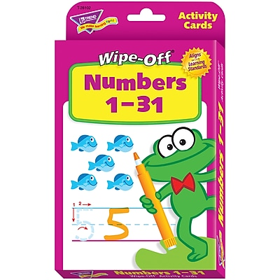 Trend Enterprises® Wipe-Off® Activity Card Set, Numbers 1-31