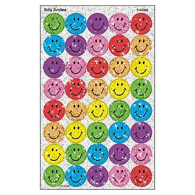 Trend® superSpots® Sparkle Smiles Chart Seals, Silly Assorted Pack
