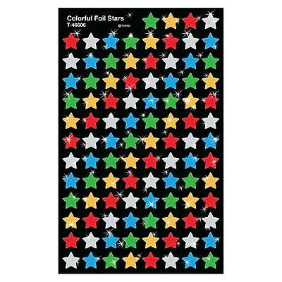Trend Enterprises® SuperShapes Stickers, Colorful Stars