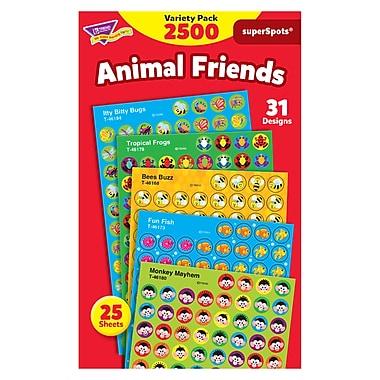 Trend Enterprises® SuperSpots® Stickers, Animal Friends