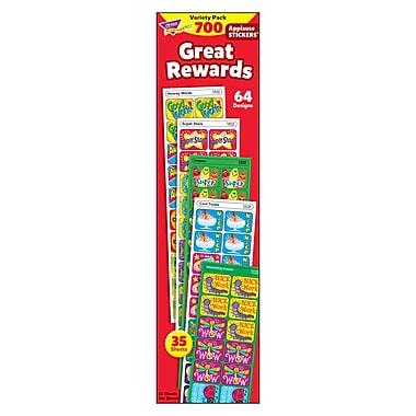 Trend Enterprises® Great Rewards Applause Stickers Variety Pack, 700/Pack