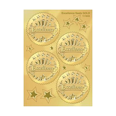 Trend Enterprises® Award Seals Stickers, Excellence, Gold