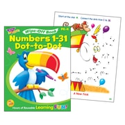 Trend Enterprises® Numbers 1 -31 Dot-to-Dot Wipe-Off Book