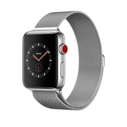 Apple Watch Series 3, GPS + Cellular, Stainless Steel Case with Milanese Loop