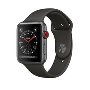 Apple Watch Series 3, 38mm, GPS + Cellular, Space Grey Aluminium Case with Grey Sport Band, MR2W2CL/A