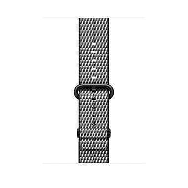 Bracelet en nylon tissé Apple Watch 42 mm, noir (quadrillé), MQVK2AM/A