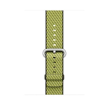 Bracelet en nylon tissé Apple Watch 42 mm, olive foncé (quadrillé), MQVQ2AM/A