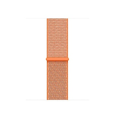 Bracelet sport à rabat Apple Watch 38 mm, orange épicé, MQW12AM/A