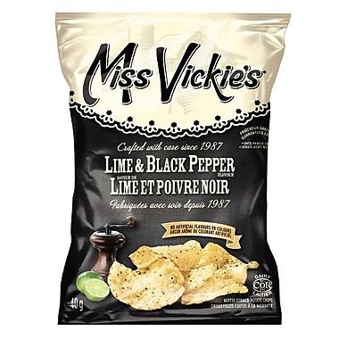 Miss Vickie's – Lime et poivre noir, 40 g, 40/paquet
