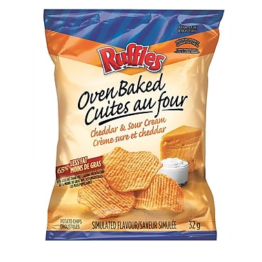 Oven Baked Ruffles® Cheddar Sour Cream 32g, 40/Pack