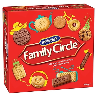 McVitie's – Assortiment de biscuits Family Circle, 670 g