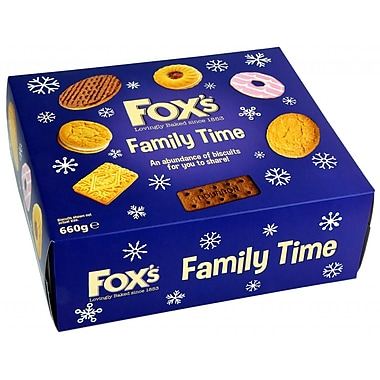 Boîte de biscuits Fox's Family Time, 660 g