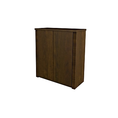 Bestar - Armoire à 2 portes de la collection Prestige +, 30 po, fini chocolat