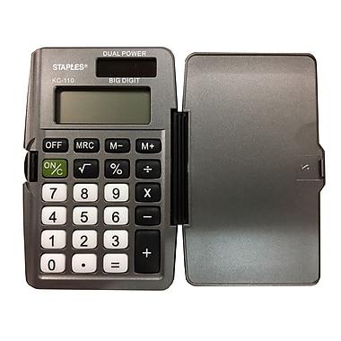 Staples – Calculatrice de poche 8 chiffres KC-110, avec couverture
