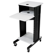 Oklahoma Sound Premium Presentation Cart, Ivory/Black