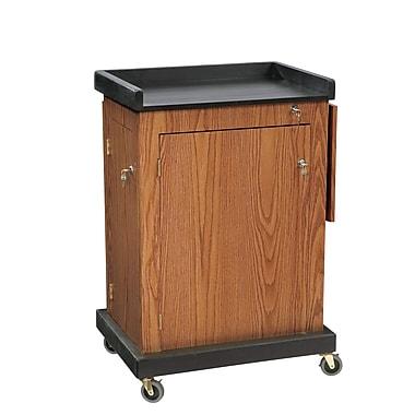 Oklahoma Sound Smart Cart Audio Visual Lectern, Medium Oak (SCL-MO)