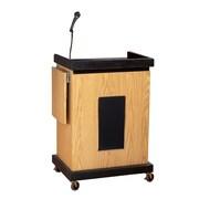 Oklahoma Sound - Chariot audiovisuel intelligent avec lutrin et son, chêne clair (SCLS-OK)