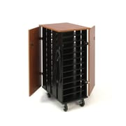 Oklahoma Sound Tablet Charging and Storage Cart, Cherry/Black (TCSC)
