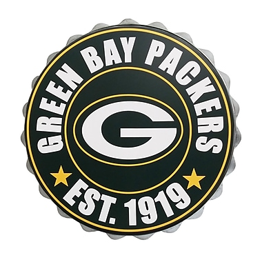 Forever Collectibles Green Bay Packers Bottle Cap Wall Logo