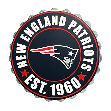 Forever Collectibles New England Patriots Bottle Cap Wall Logo