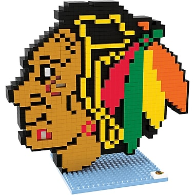 Forever Collectibles – Casse-tête BRXLZ, logo des Blackhawks de Chicago
