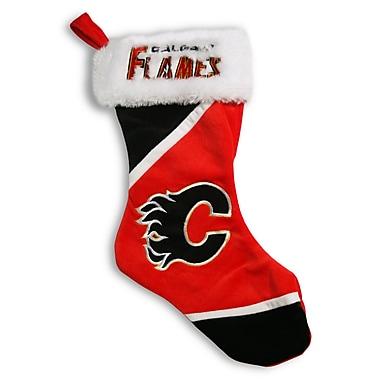Forever Collectibles – Bas de Noël cousu au thème des Flames de Calgary