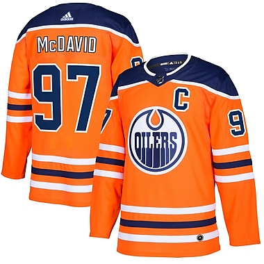 adidas Edmonton Oilers Connor McDavid NHL Authentic Pro Home Jersey, Large
