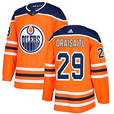 adidas Edmonton Oilers Leon Draisaitl NHL Authentic Pro Home Jersey, X Large