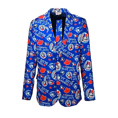 Forever Collectibles Toronto Blue Jays Men's Team Jacket and Tie Combo, Small