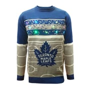 Forever Collectibles Toronto Maple Leafs Hockey Rink Light Up Sweater