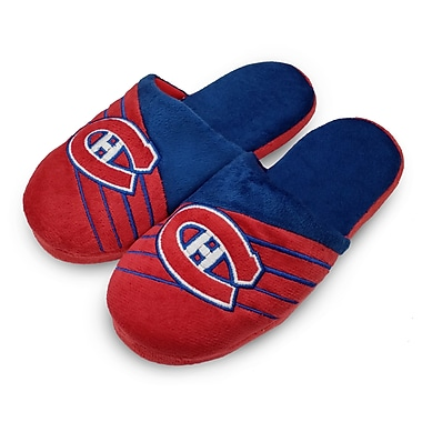 Forever Collectibles Montreal Canadiens Big Logo Slippers, Small