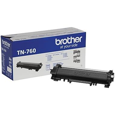 Brother TN760 Black Toner Cartridge, High Yield
