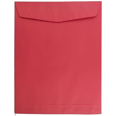 JAM Paper® 10 x 13 Open End Catalog Envelopes, Brite Hue Red Recycled, 10/pack (V0128192B)